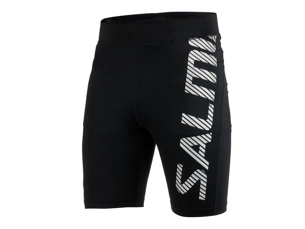 SALMING Run Power Logo Tights Men Black/Silver Reflective