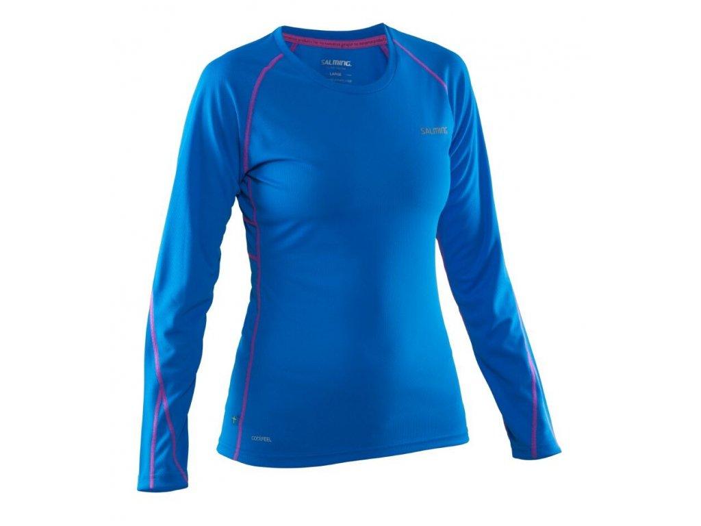 SALMING Run LS Tee Women Electric Blue/Azalea Pink