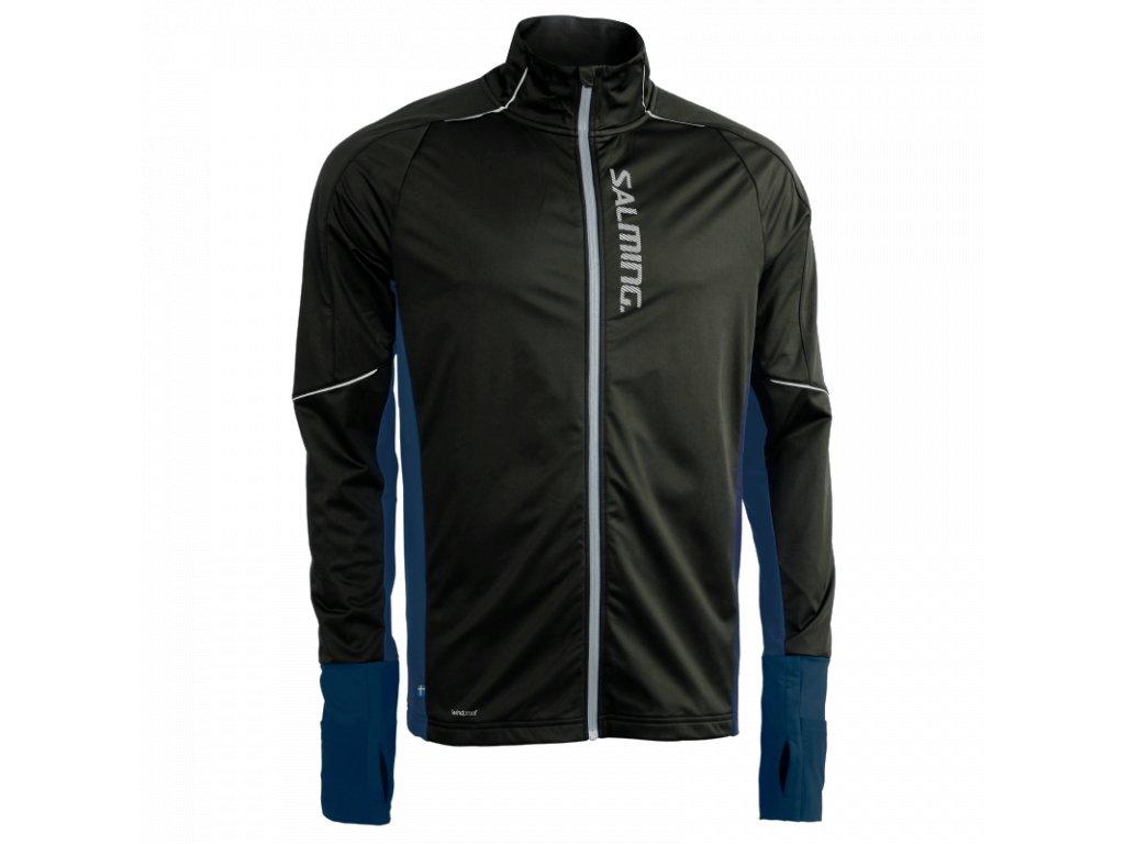 SALMING Run Thermal Wind Jacket Men Black/Blue Melange