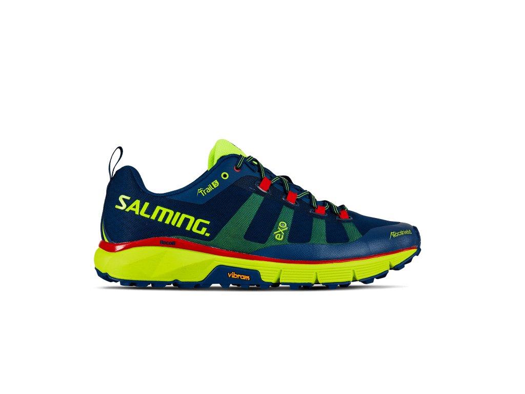 SALMING Trail 5 Shoe Men Poseidon Blue/Safety Yellow