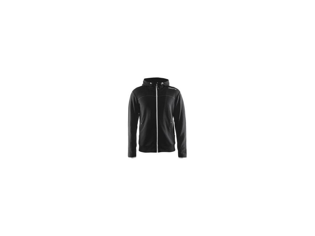 Mikina CRAFT Leisure Full Zip Hood černá S