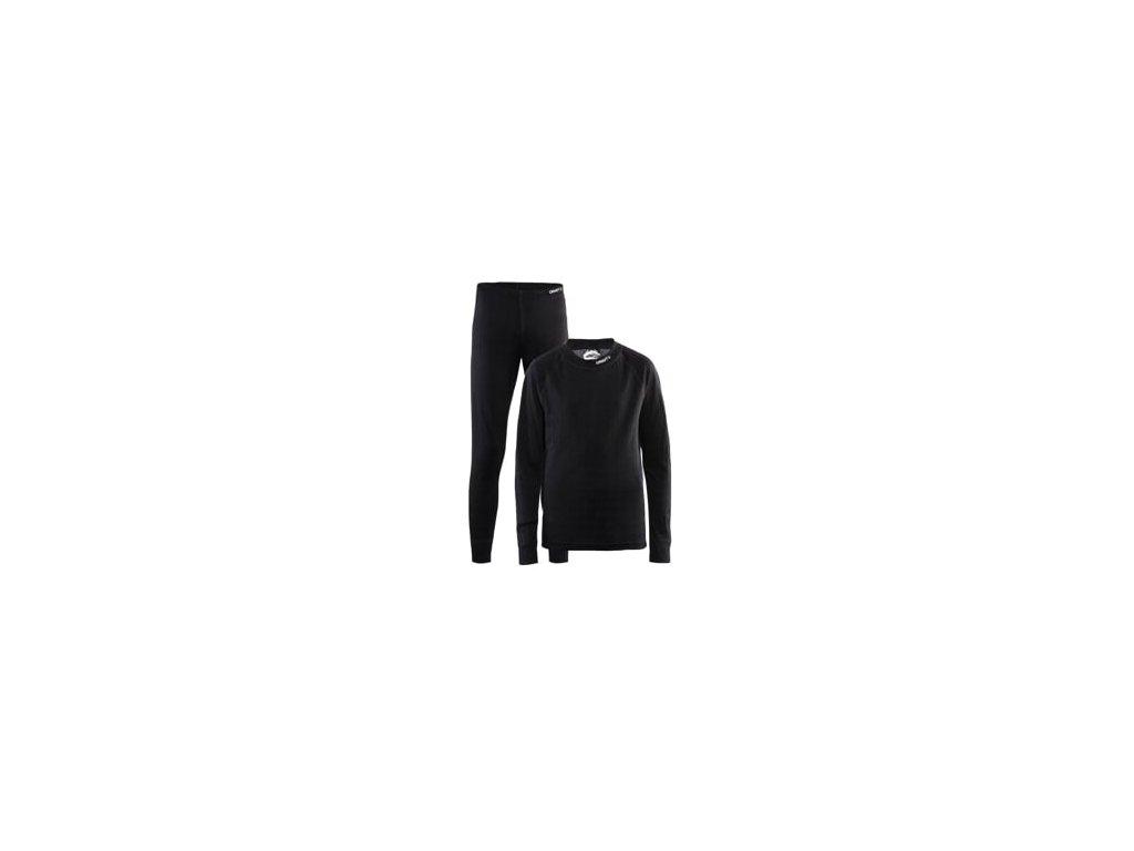Set CRAFT Nordic Wool Junior černá 74/80