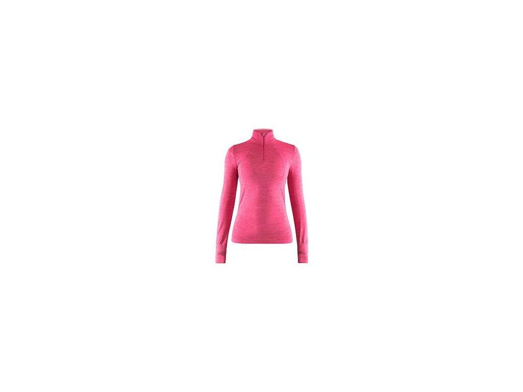 W Triko CRAFT Fuseknit Comfort Zip růžová S