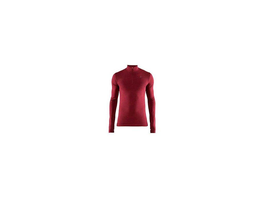 Triko CRAFT Fuseknit Comfort Zip červená XXL