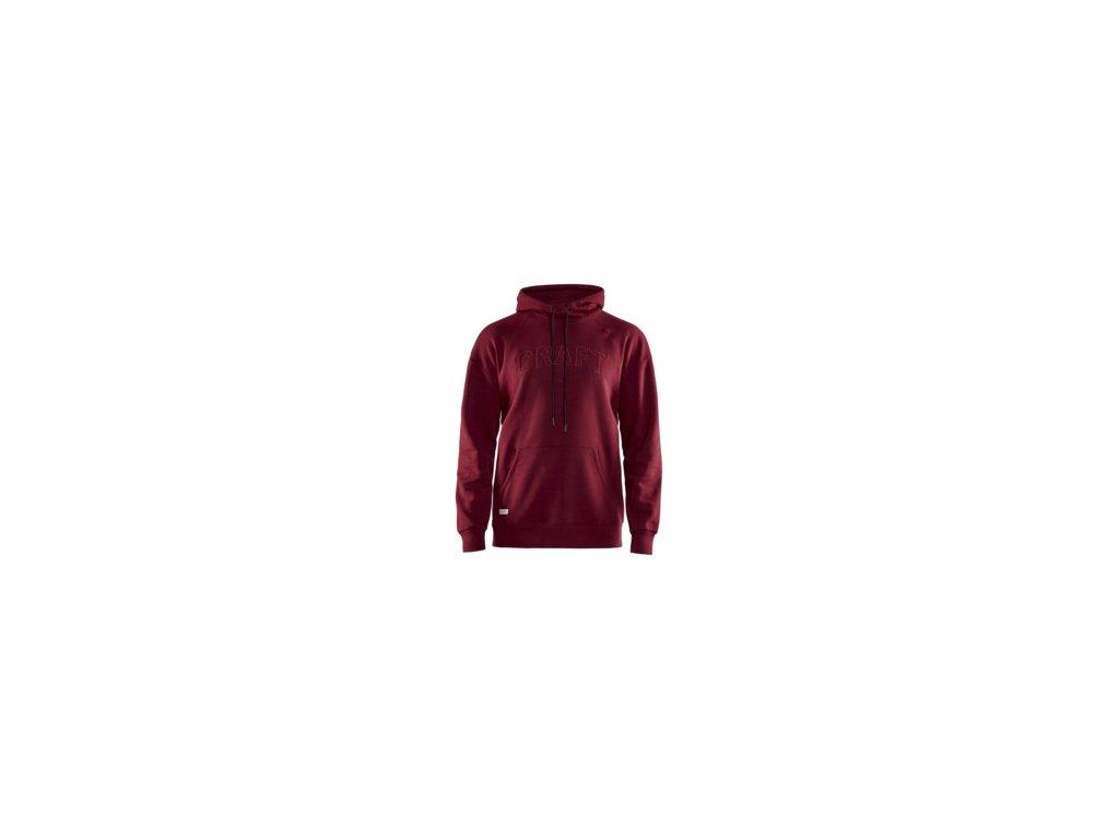 Mikina CRAFT Overhead Logo Hoody červená XL