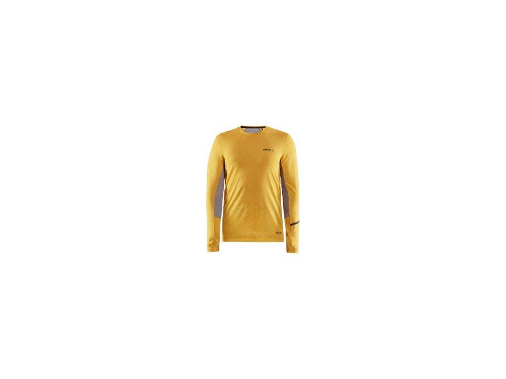 Triko CRAFT SubZ Wool LS žlutá S