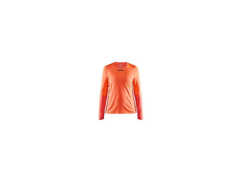 W Triko CRAFT Vent Mesh LS oranžová XS