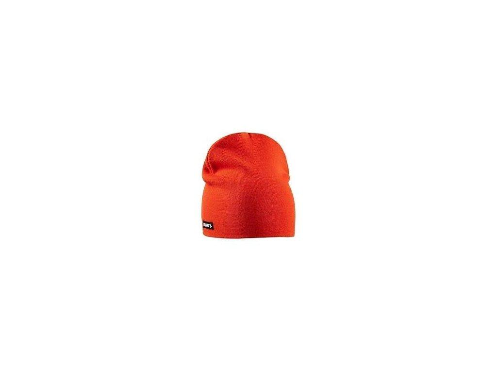 Čepice CRAFT Solid Knit oranžová L-XL