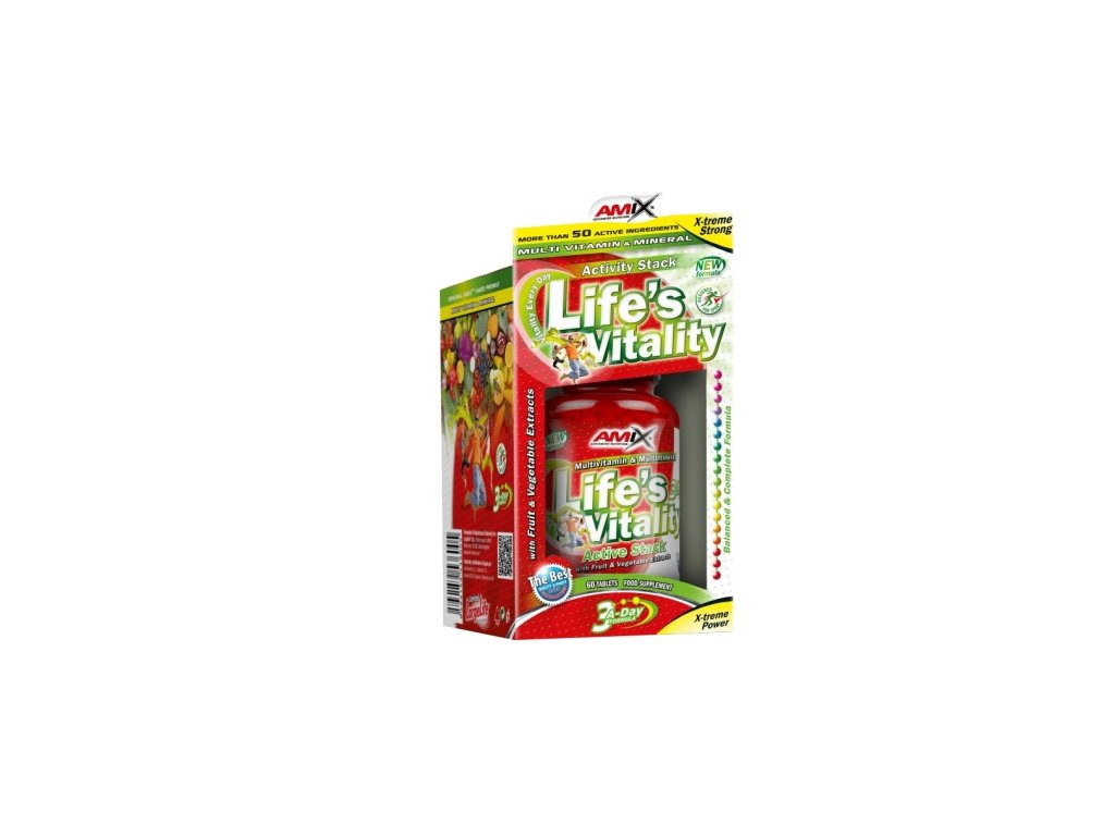 amix lifes vitality active stack 60 tablet