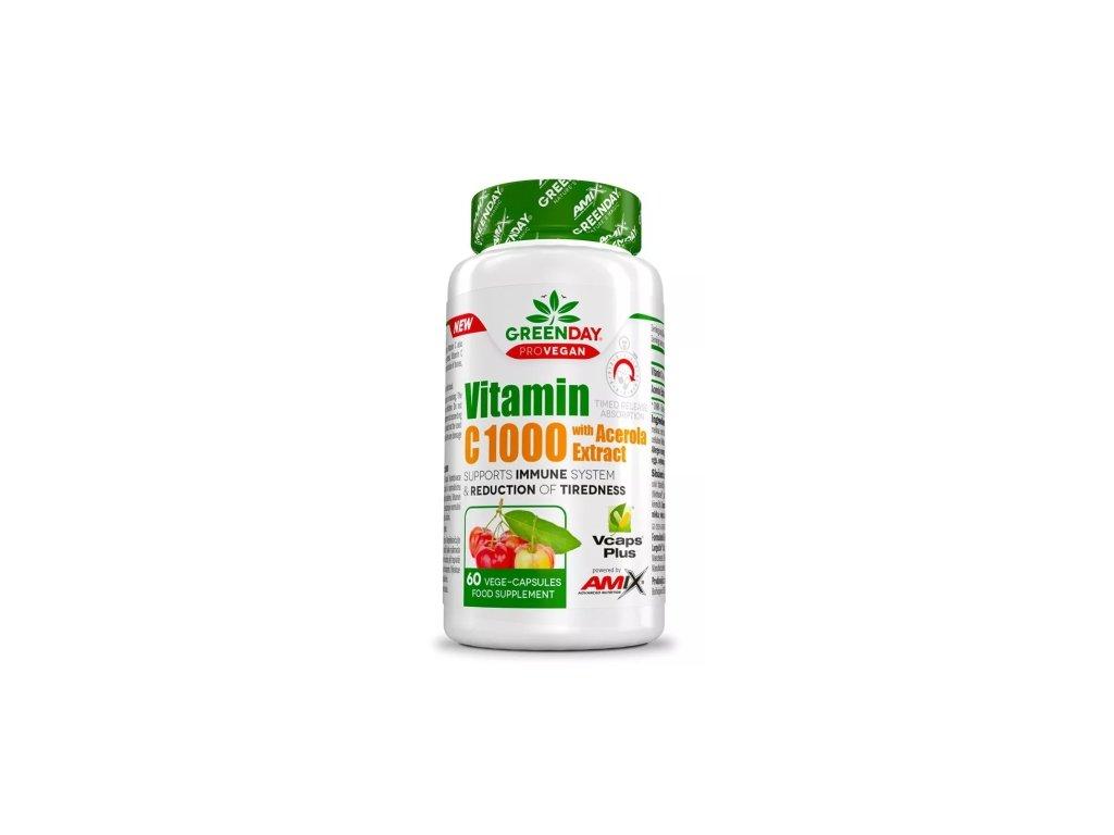 amix provegan vitamin c 1000 s extraktem z aceroly 60kapsli
