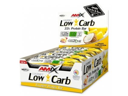 amix low carb 33 protein bar 60g