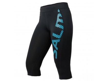 SALMING Capri Logo Tights Women Black/Light Blue