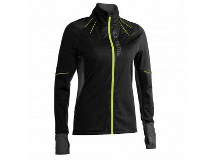 SALMING Run Thermal Wind Jacket Women Black/Black Melange