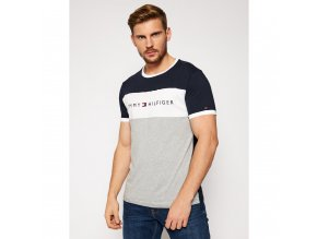 tommy hilfiger t shirt logo flag um0um01170 barevna regular fit