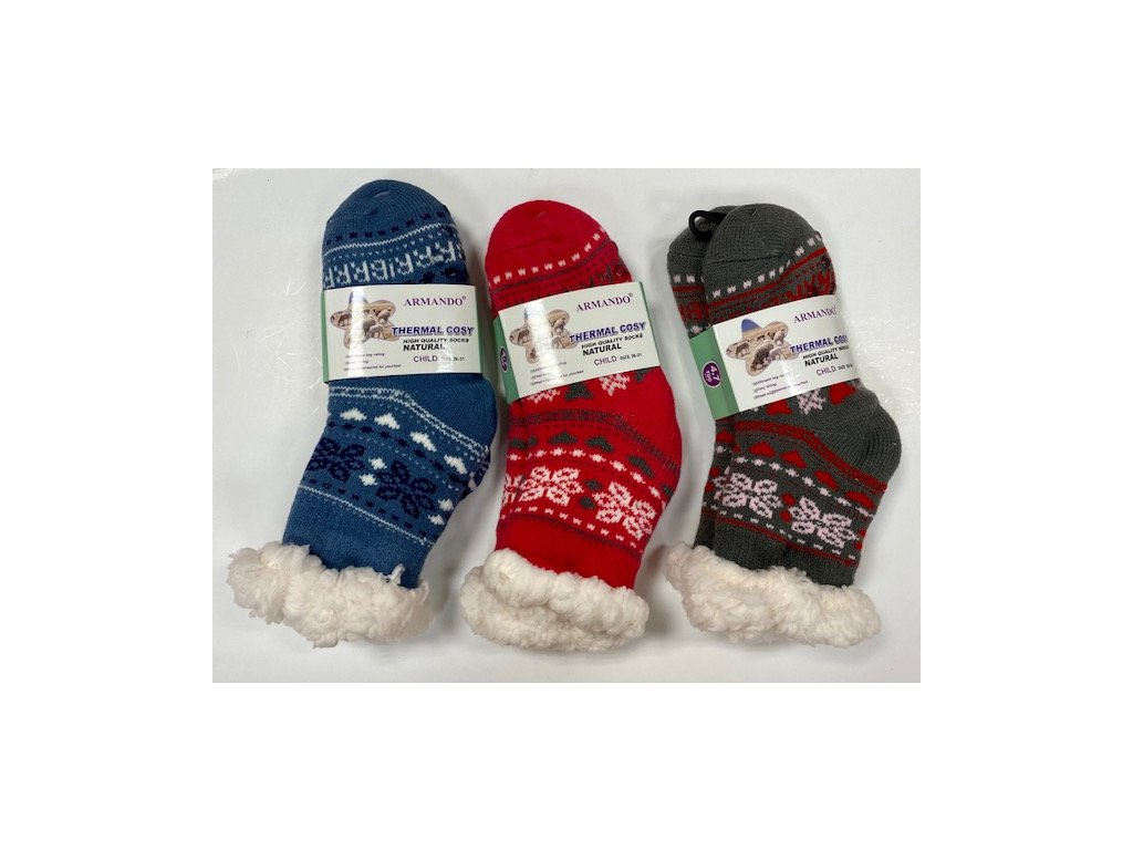 Detské ponožky vlna Thermal cosy 1