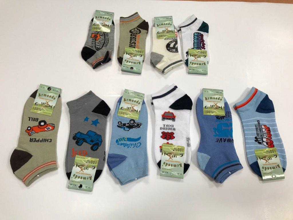 Detské členkové ponožky