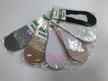 Dámske krajkové bambusové ťapky