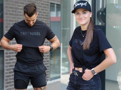 tričko biobavlna pánské černé