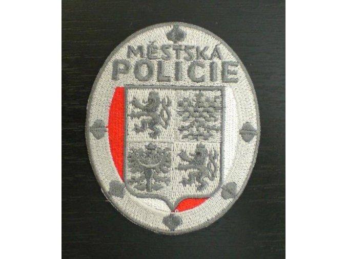 Nášivka Městská policie ovál,šedá Z0400