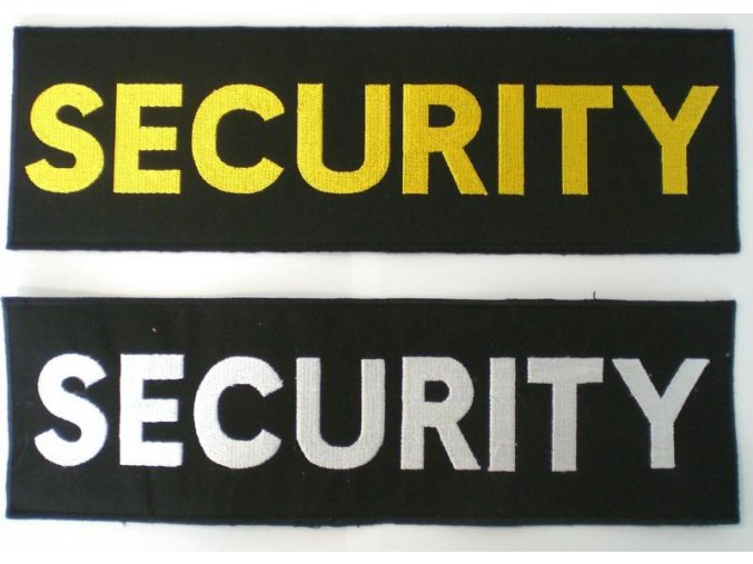 Nášivka SECURITY 100x360 mm suchý zip