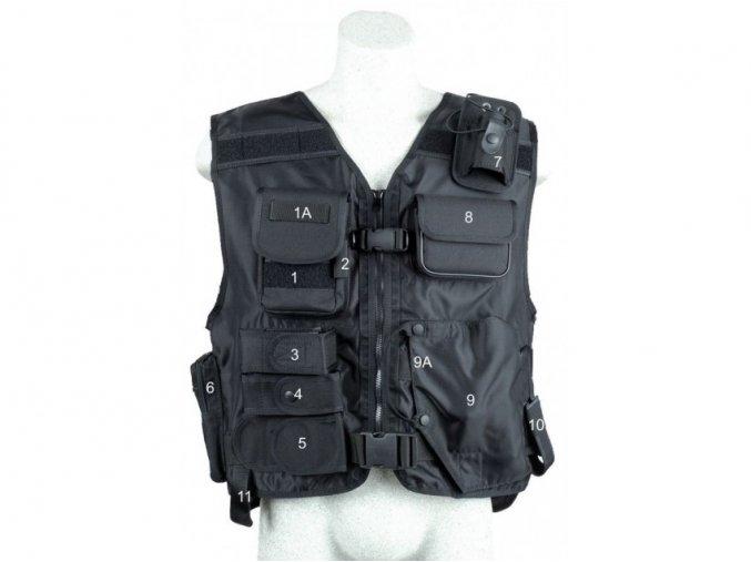 takticka vesta s pouzdrem na pistoli model 639