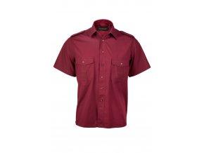 Košile pilotka vínová KR Z0083