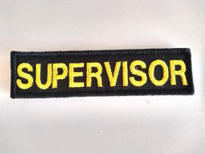 Nášivka SUPERVISOR na suchý zip