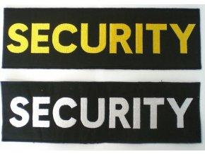 Nášivka SECURITY 100x360 mm suchý zip