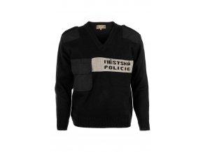 Svetr Městská policie černý Z0067