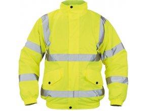 odevy zimni a volnocasove odevy cepice bundy cloton hv pilot bunda reflex zluta pp 42 3103