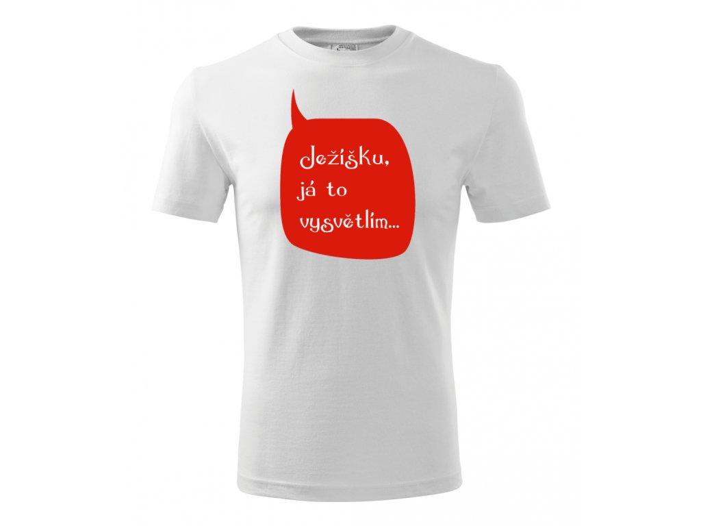 Ježíšku… - Pánské vánoční tričko s potiskem, červené