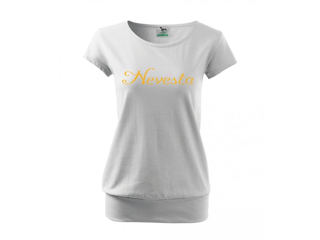 Tričko pro nevěstu - Nevěsta - Bílé