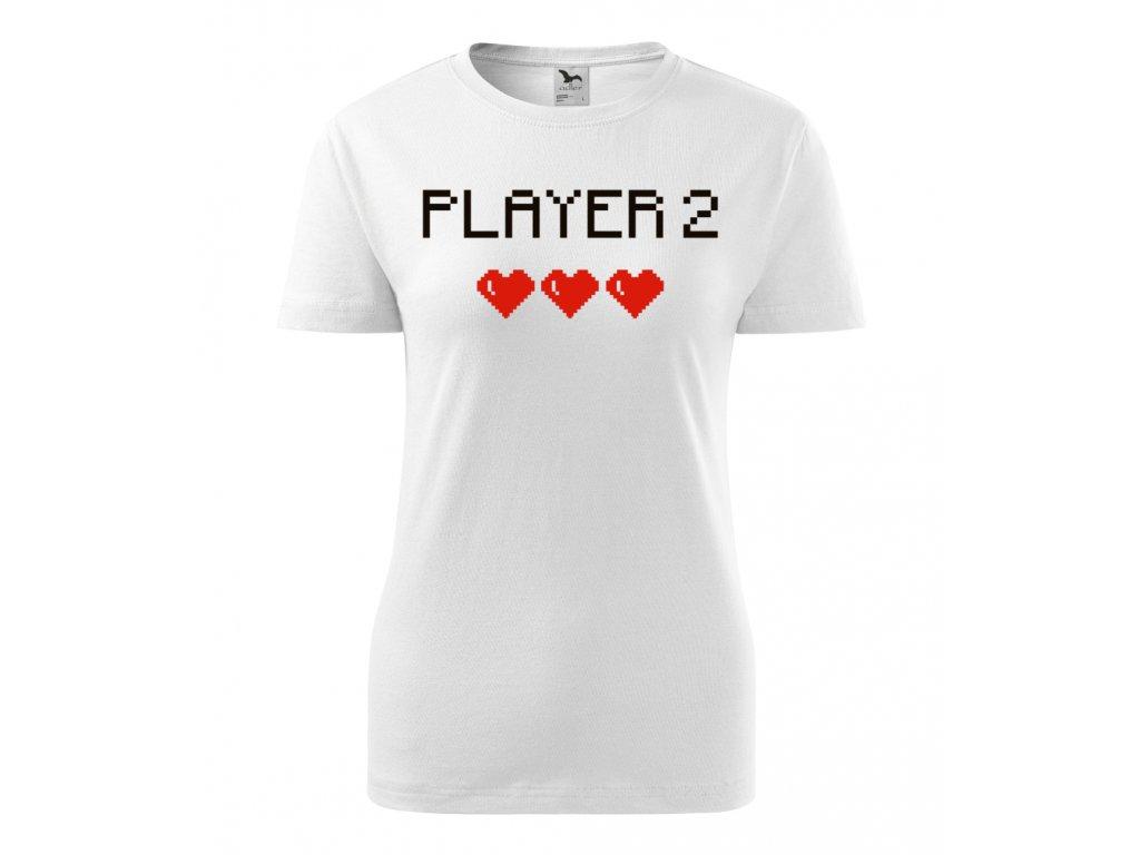 Player 2 - Dámské tričko s potiskem