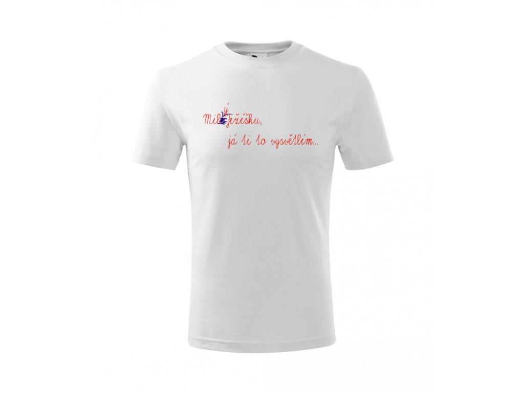 Pánské vánoční tričko - Milý Ježíšku