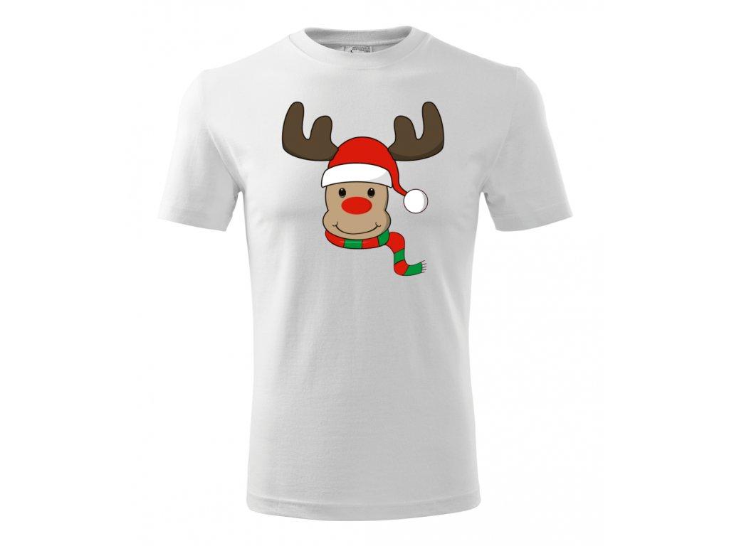 Pánské vánoční tričko se sobem - Levná trička s potiskem