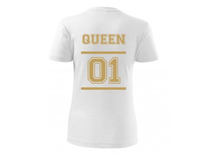 Dámské tričko Queen - DELUXE zlatý potisk