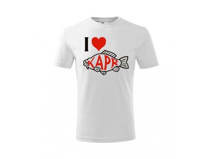 Pánské vánoční tričko - I LOVE KAPR