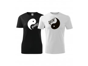 Trička pro páry s potiskem - Yin a Yang