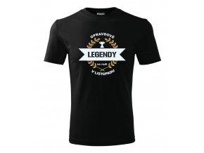 Pánské narozeninové tričko - Opravdové legendy - Černé
