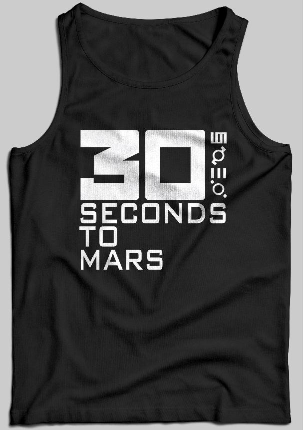 Tielko 30 Seconds To Mars Farba: Biela, Veľkosť: M, Pohlavie: pánske