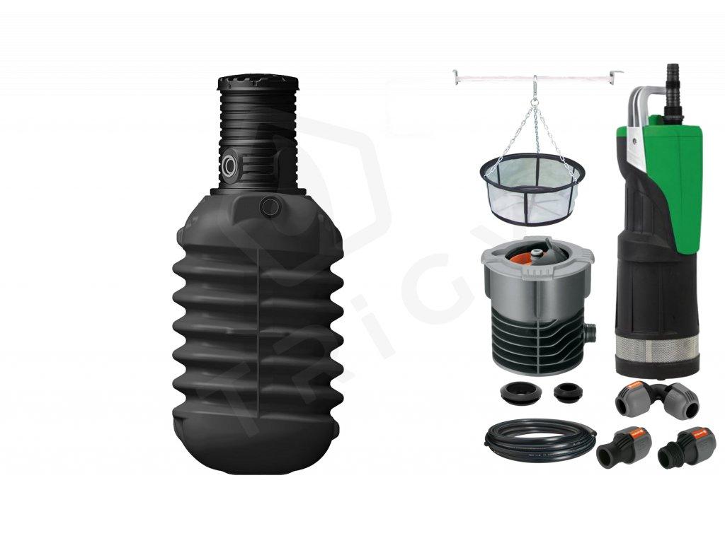 Sada plastové retenční akumulační nádrže na dešťovou vodu Modularis 2 500 L