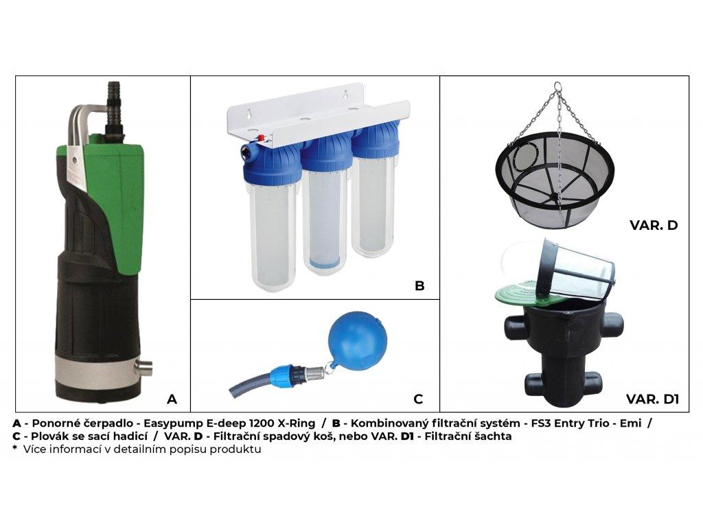 Sada plastové retenční akumulační nádrže na dešťovou vodu Li-Lo 3000 L