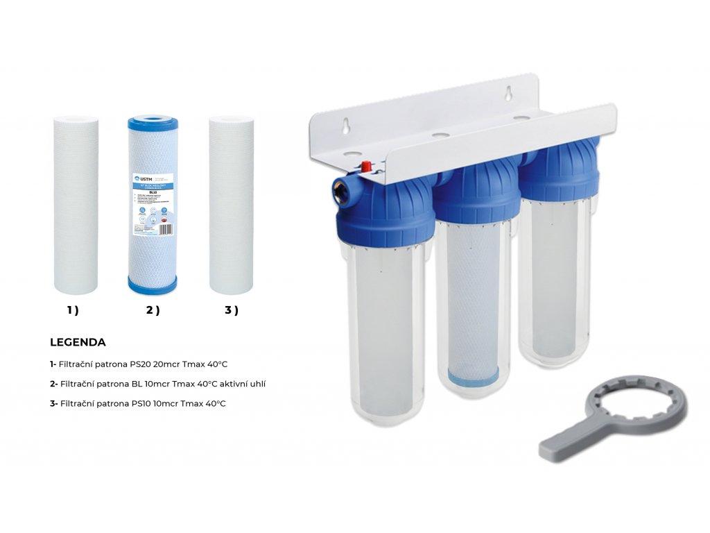 Sada plastové retenční akumulační nádrže na dešťovou vodu Eco-line 3300 L