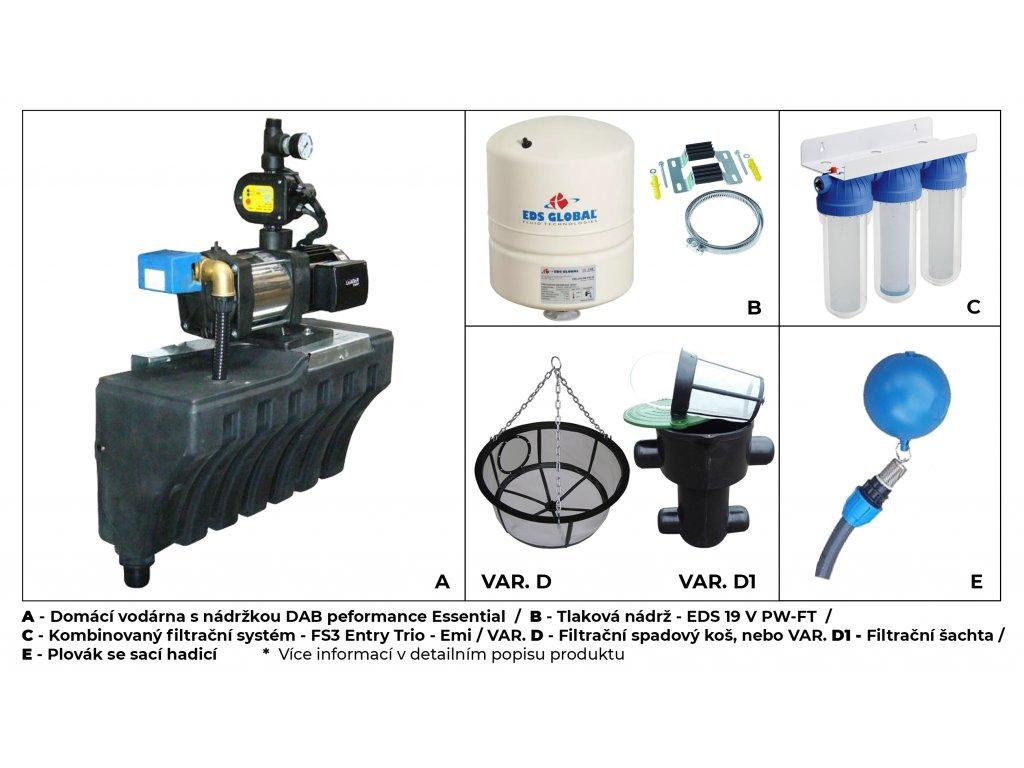 Sada plastové retenční akumulační nádrže na dešťovou vodu Li-lo 3300 L