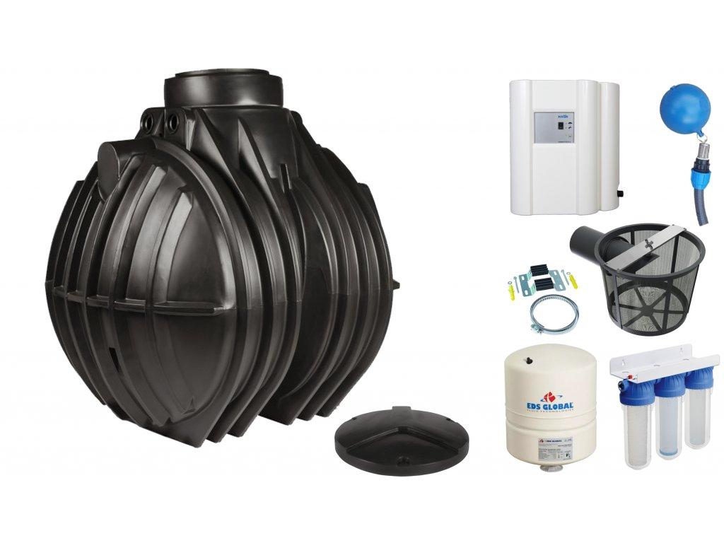 Sada plastové retenční akumulační nádrže na dešťovou vodu Atlantis 5300 L