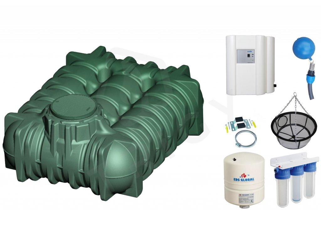 Sada plastové retenční akumulační nádrže na dešťovou vodu Li-Lo 5 000 L