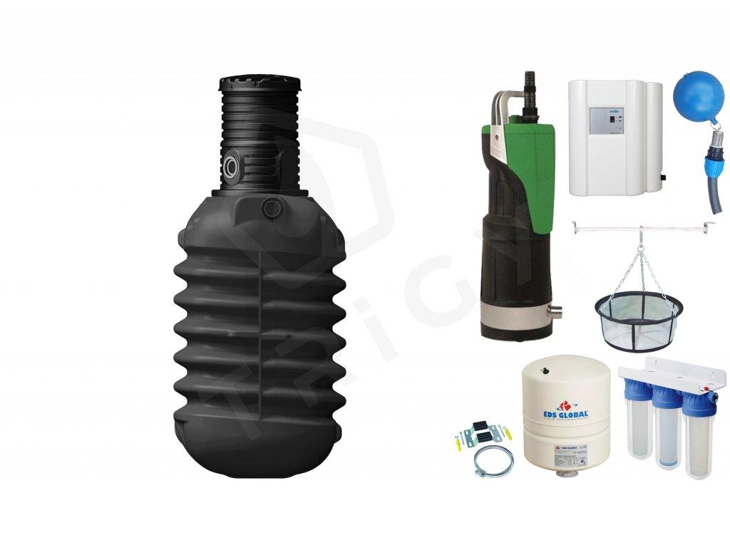 Sada plastové retenční akumulační nádrže na dešťovou vodu Modularis 2500 L