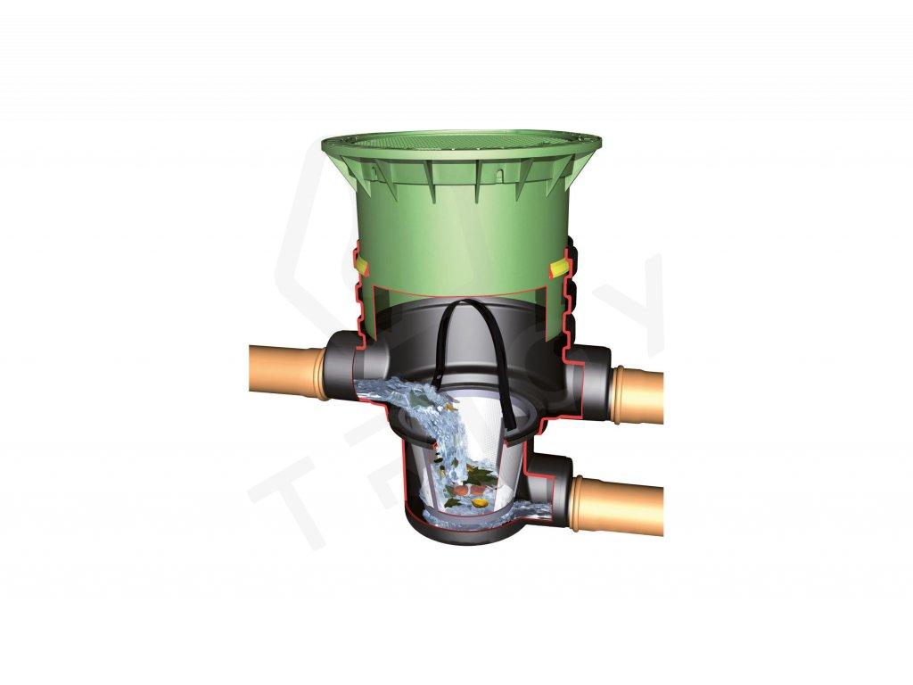 Podzemní filtrační šachta s košem DN 400 Graf Garantia, pochozí