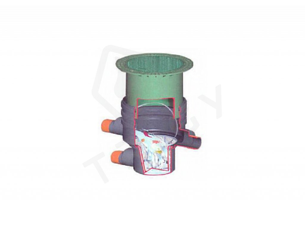 Filtrační šachta s vyjímatelným košem DN 600 Graf Garantia, pochozí