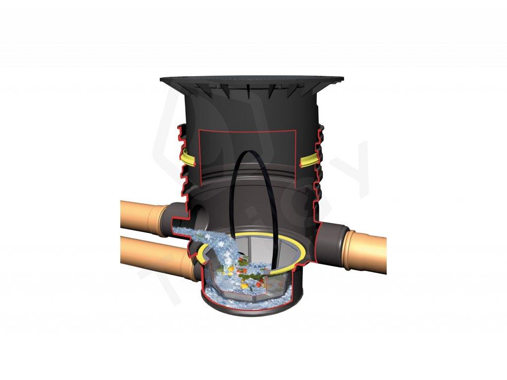 Filtrační šachta s vyjímatelným košíkem DN 600 Graf Garantia, pojízdná 3,5 t